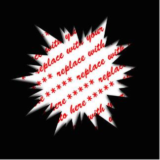EXPLODE Template Photo Frame (Black) Photo Cutouts