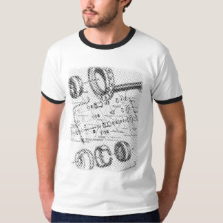 Exploded Hub Diagram (black) T-Shirt