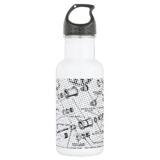 Exploded Hub Diagram (black/white) 532 Ml Water Bottle