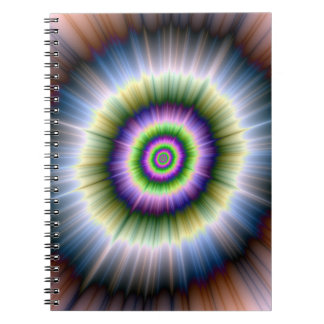 Exploding Blue Green and Pink Notebook
