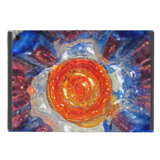 Exploding Cosmos Art Glass - Van Gogh Orange Sun Case For iPad Mini