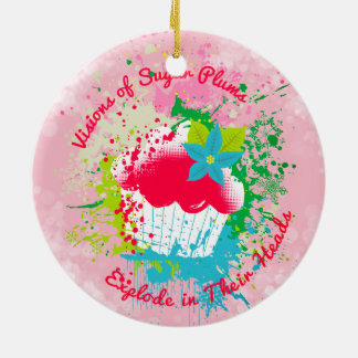 Exploding cupcake sugar plums Christmas ornament
