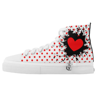 Exploding Heart High Tops