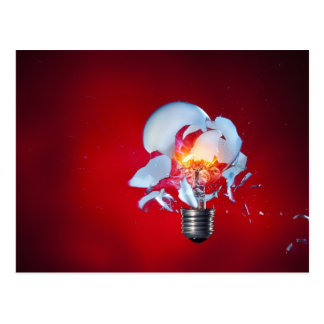 Exploding Lightbulb Postcard