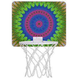 Exploding mandala star mini basketball hoop