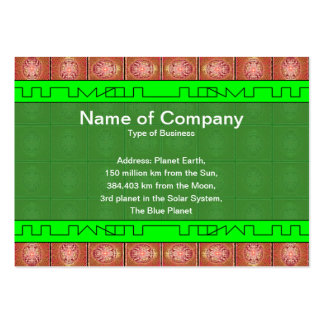 Exploding Planet Grid Pack Of Chubby Business Cards