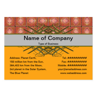 Exploding Planet Grid Large Business Cards (Pack Of 100)