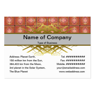 Exploding Planet Grid Business Card Templates