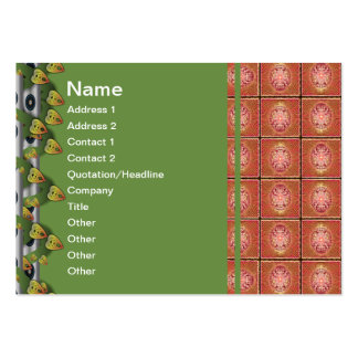 Exploding Planet Grid Large Business Card