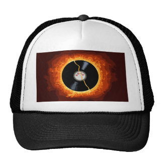 Exploding Record Trucker Hat