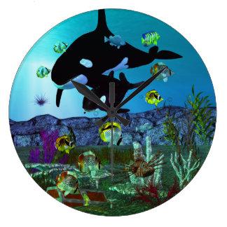 Exploration 3D Aquarium ORCA Large Clock