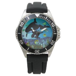 Exploration 3D Aquarium ORCA Wrist Watches
