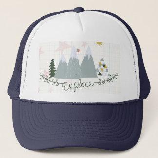 Explore America patriotic trucker hat