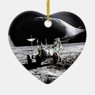 Explore and success moon rover astronaut nasa ceramic ornament