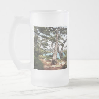 Explore Dream Discover Frosted Glass Beer Mug