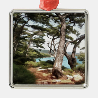 Explore Dream Discover Metal Ornament