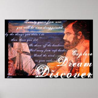 Explore. Dream. Discover Poster