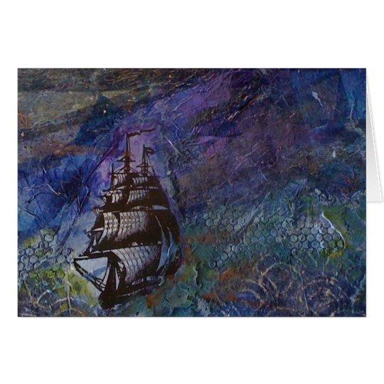 Explore Dream Discover sailing Card