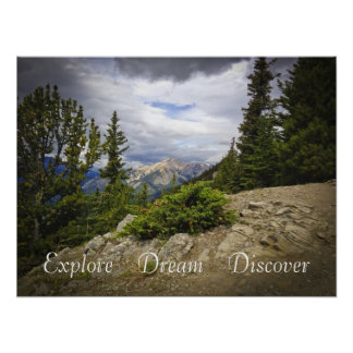 Explore Dream Discover Scenic Mountain Hiking Poster