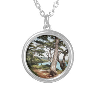 Explore Dream Discover Silver Plated Necklace