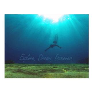 Explore, Dream, Discover - Snorkel Postcard