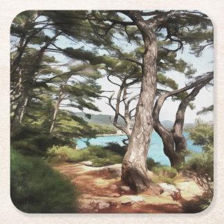 Explore Dream Discover Square Paper Coaster