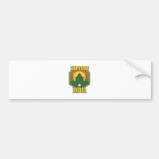 Explore India Bumper Sticker