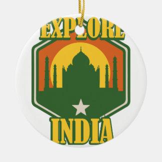 Explore India Ceramic Ornament