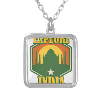 Explore India Silver Plated Necklace