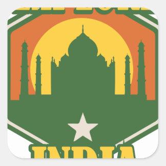 Explore India Square Sticker