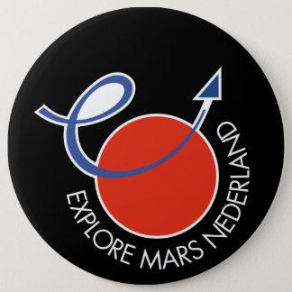 Explore Mars Nederland Button zwart