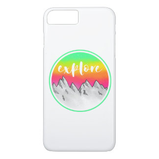 Explore Mountain scene watercolor Case-Mate iPhone Case