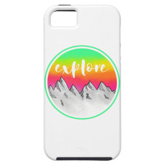 Explore Mountain scene watercolor iPhone 5 Cover