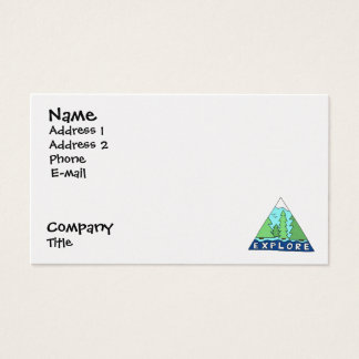 Explore Nature Outdoors Travel City Business Card