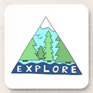 Explore Nature Outdoors Wilderness Mountains Coaster