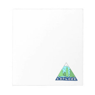 Explore Nature Outdoors Wilderness Mountains Notepad