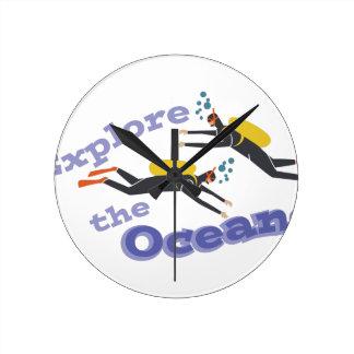 Explore Oceans Wall Clocks