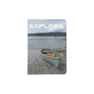 """Explore"" Passport Holder with Row Boat"