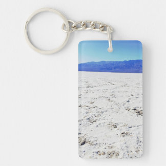 Explore salts @ Badwater Basin || Death Valley || Double-Sided Rectangular Acrylic Keychain