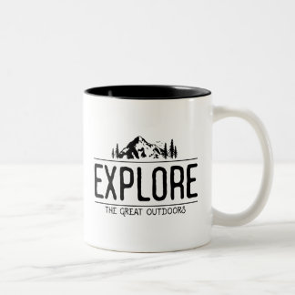 Explore the Great Outdoors Two-Tone Coffee Mug