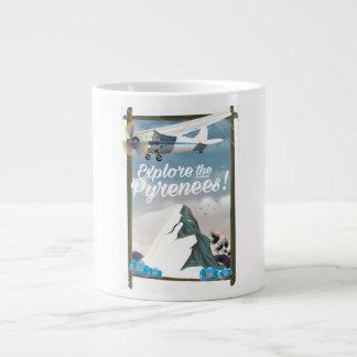 Explore the Pyrenees European mountains. Large Coffee Mug