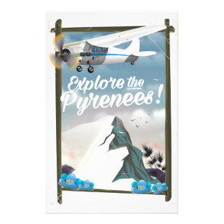 Explore the Pyrenees European mountains. Stationery