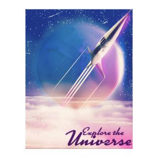 Explore the Universe Vintage space poster Canvas Print