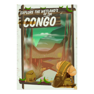 Explore the Wetlands of the Congo Poster