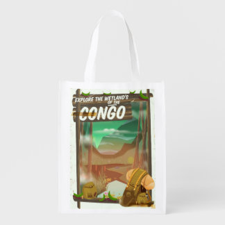 Explore the Wetlands of the Congo Reusable Grocery Bag
