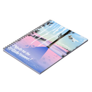 Explore the wilderness! Winter animal prints Notebook