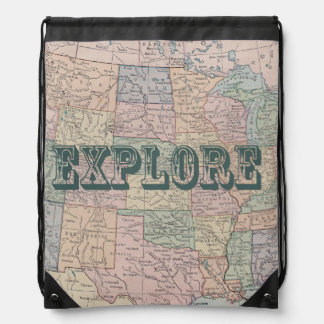 Explore Travel Quote Backpack