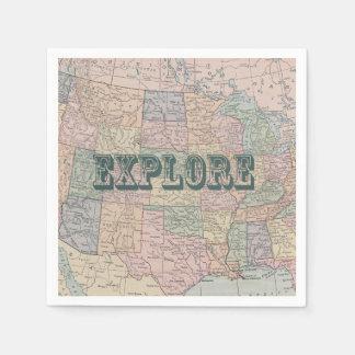Explore Travel Quote Napkin Disposable Napkins