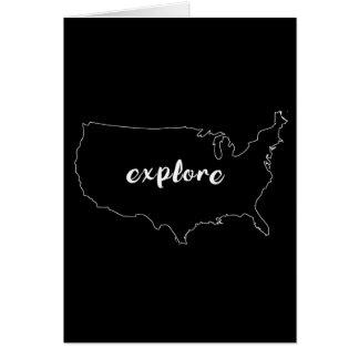 Explore USA Greeting Card
