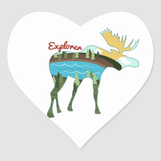 Explorer Heart Stickers